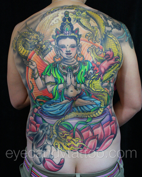 Family Chinese Zodiac with Buddha tattoo,new orleans tattoo, randy muller, eyecandy, icandytattoo, i candy, eye candy,