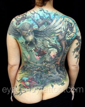 Owl Heart tattoo, new orleans tattoo, randy muller, eyecandy, icandytattoo, i candy, eye candy,