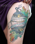 Birdcage tattoo,new orleans tattoo, randy muller, eyecandy, icandytattoo, i candy, eye candy,