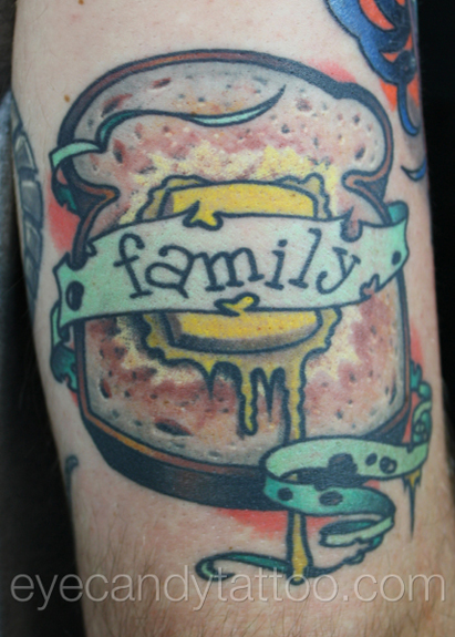 Bread and Butter family tattoo,new orleans tattoo, randy muller, eyecandy, icandytattoo, i candy, eye candy,