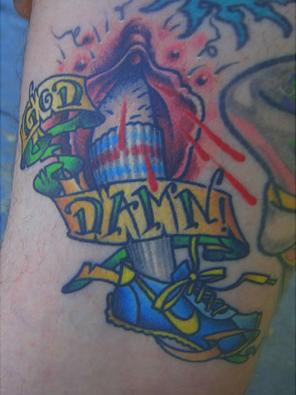 vagina tattoo, nike tattoo, new orleans tattoo, randy muller, eyecandy, icandytattoo, i candy, eye candy,