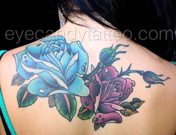 Rose cover-up tattoo,new orleans tattoo, randy muller, eyecandy, icandytattoo, i candy, eye candy,
